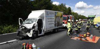 Schwerer Verkehrsunfall auf der Autobahn A99