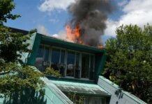 Dachstuhlbrand bei einer Kindertagesstätte