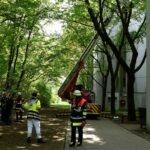 Dachstuhlbrand im Olympiadorf
