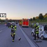 Mehrere verletzte Insassen nach Verkehrsunfall