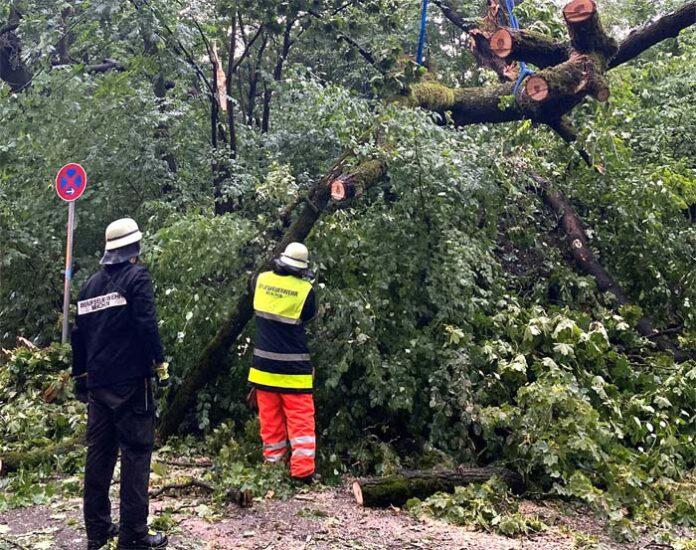 Unwetter über München - Zahlreiche Einsätze für die Feuerwehr