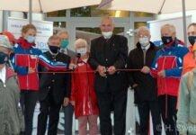 """Herrmann bei Ausstellungseröffnung """"100 Jahre Bergwacht Bayern"""""""
