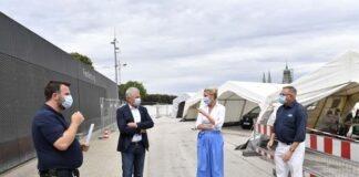 Corona-Teststation Theresienwiese: Oberbürgermeister Reiter überzeugt sich von reibungslosen Abläufen
