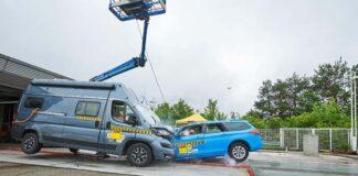 Wohnmobil im ADAC Crash-Test