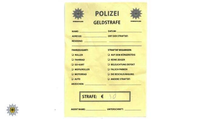 Falsche Strafzettel der Bundespolizei aufgetaucht - Mindestens zwei an Fahrzeugen im Münchner Lehel festgestellt