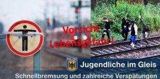 Jugendliche im Gleis legen Bahnverkehr lahm - Bundespolizei warnt!