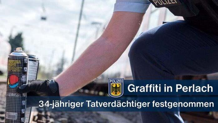 Erneut Graffitisprayer erwischt - 34-Jähriger sprühte in Perlach