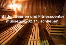 Regierungsbeschluss: Bäder, Saunen und Fitnesscenter müssen ab 2.11. schließen