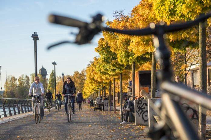 Fahrradfahren in der Stadt