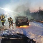 Pkw in Vollbrand (A99)