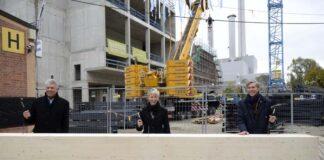 Rohbau der Philharmonie im Gasteig Sendling abgeschlossen - Richtfest im neuen Kulturkraftwerk