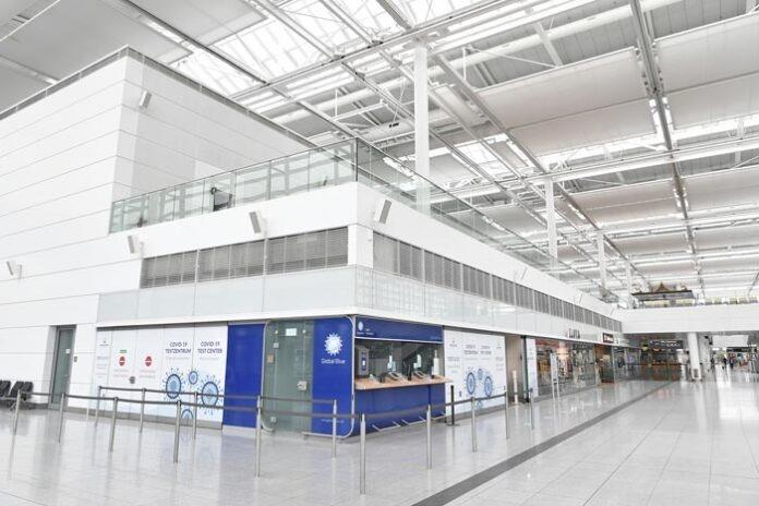 Neues Covid-19-Testzentrum am Airport liefert Ergebnisse innerhalb von drei bis sechs Stunden