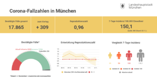 Update 03.11.: Entwicklung der Coronavirus-Fälle in München