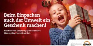 Müll vermeiden an Weihnachten: AWM startet neue Kampagne