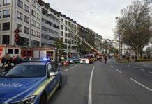 Sonnenstraße: Brand im Treppenhaus eines Wohn- und Geschäftsgebäudes