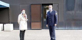 Gesundheitsreferentin Zurek und Polizeipräsident Hampel besuchen Contact Tracing Teams auf der Wiesnwache