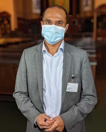 Clement Edathumparampil, Seelsorger in der München Klinik Schwabing und Bogenhausen. Bildnachweis: München Klinik