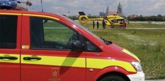Hubschrauberlandung auf der Theresienwiese