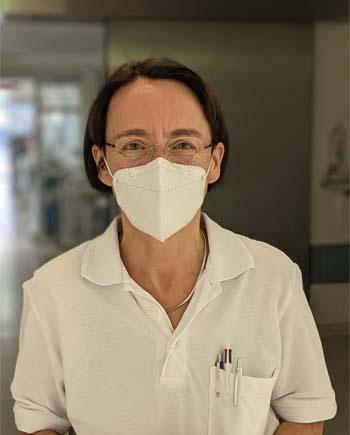 Dr. Ines Kaufmann, Oberärztin der Intensivstation in der München Klinik Neuperlach. Bildnachweis: München Klinik