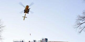 Bewusstlos im Kran: Kranführer mit Rettungshubschrauber geborgen
