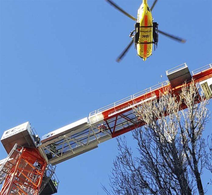 Stromschlag - Notfall in 45 Meter Höhe