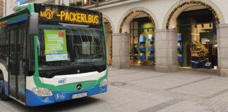 MVV-Packerlbus erleichtert die Weihnachtseinkäufe in der Münchner Innenstadt