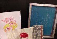 Siebdruck-Weihnachts-Werkstatt in der Seidlvilla