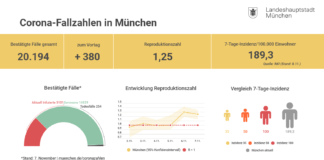 Update 8.11.: Entwicklung der Coronavirus-Fälle in München