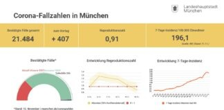 Update 11.11.: Entwicklung der Coronavirus-Fälle in München