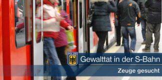 Gewalttat in der S-Bahn - Bundespolizei sucht Zeugen