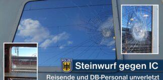 IC mit Schotterstein beworfen - Sachschaden und Zugausfall - keine Verletzten