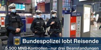 Großes Lob an Reisende – Bundesweiter Maskenkontrolltag in Bahnen am 7. Dezember