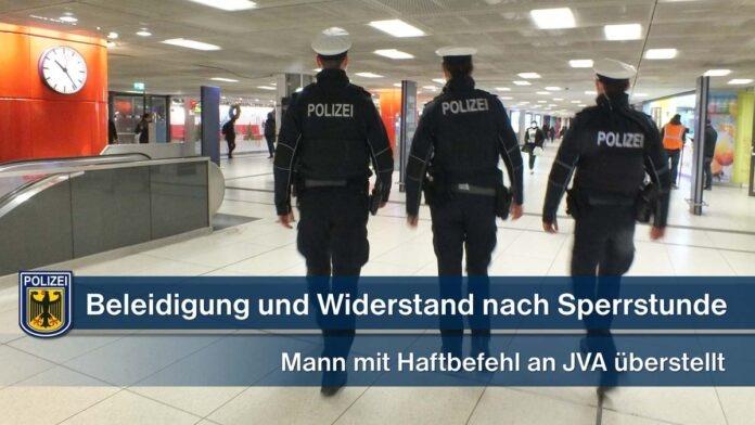 Beleidigung und Widerstand nach Sperrstunde - Mann mit Haftbefehl an JVA überstellt