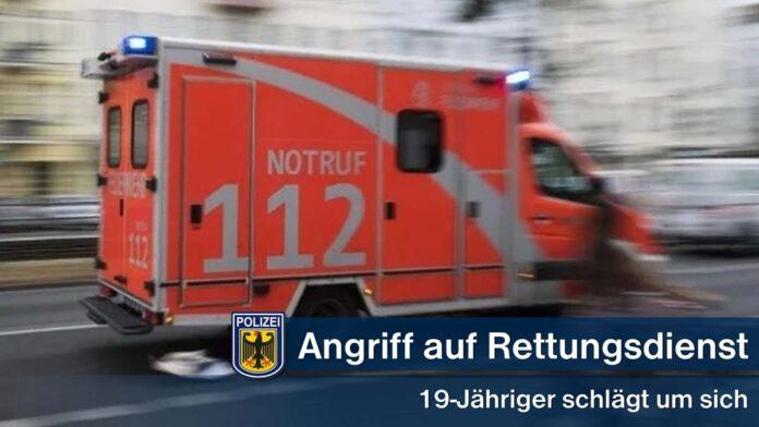 Angriff auf Mitarbeiter des Rettungsdienstes