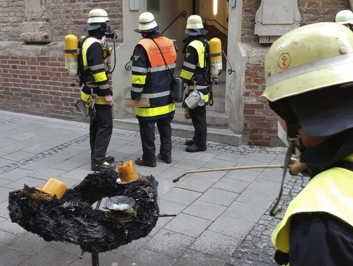 Brand in der Frauenkirche