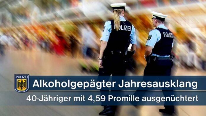 Bundespolizei: Tag vor Jahresausklang von viel Alkohol gezeichnet - Alkohol-Rekordwert an Silvester