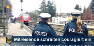 Streit wegen Spielkonsole in S-Bahn eskaliert