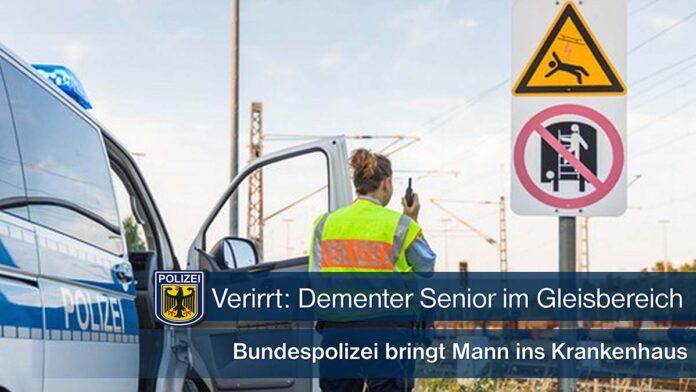 Verirrt: Dementer Senior im Gleisbereich