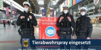 Nach Maskenstreit Tierabwehrspray eingesetzt