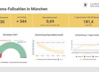 Update 01.01.2021: Entwicklung der Coronavirus-Fälle in München