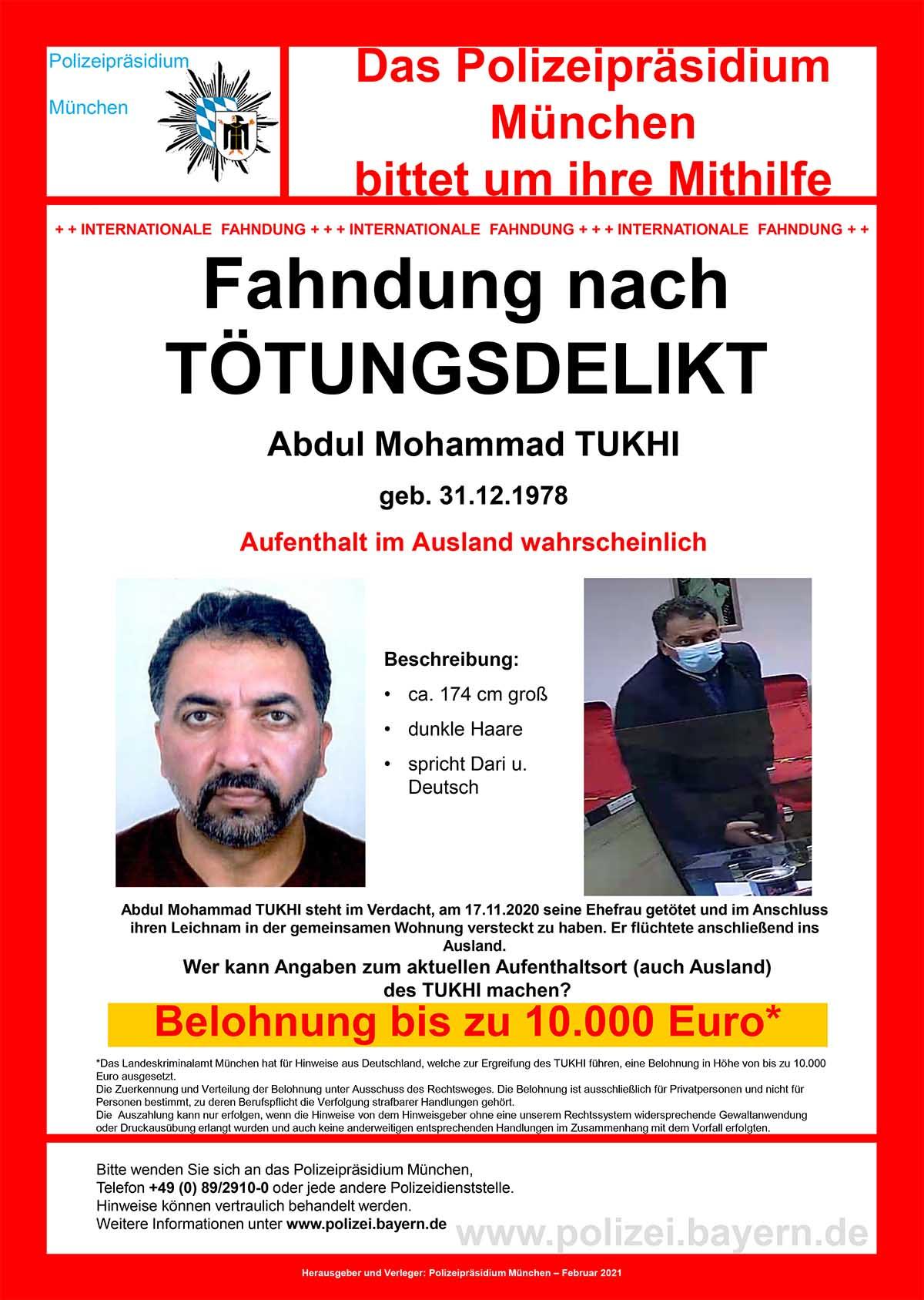 Altperlach: Polizei startet Öffentlichkeitsfahndung nach Tötungsdelikt