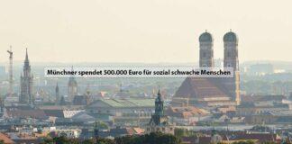 Münchner spendet 500.000 Euro für sozial schwache Menschen