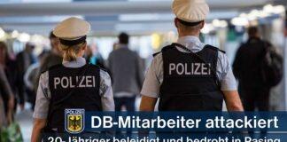 20-Jähriger attackierte DB-Servicemitarbeiter