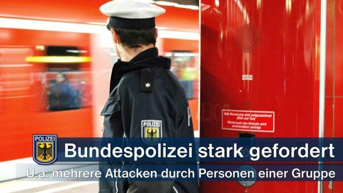 Unbekannter mit Bierflasche attackiert - Polizeiliche Kontrolle einer Personengruppe eskaliert