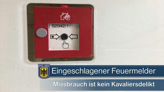 Eingeschlagener Feuermelder beeinträchtigt S-Bahnverkehr - 53-Jähriger bereits polizeibekannt