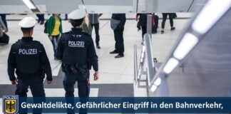 Gewaltdelikte, Gefährlicher Eingriff in den Bahnverkehr, Sachbeschädigungen, Eskalation bei Maskenkontrolle