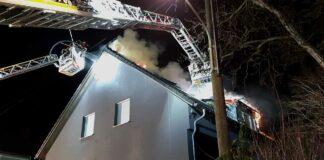 Dachstuhlbrand in Pasing-Obermenzing