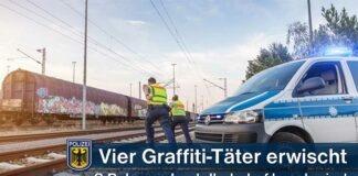 Bundespolizei erwischt Graffiti-Sprayer