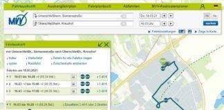 Piktogramme geben Auskunft über die prognostizierte Auslastung im MVV-Regionalbusverkehr