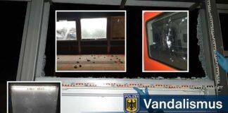 Vandalismus: Steinwürfe gegen Schaukästen und S-Bahn